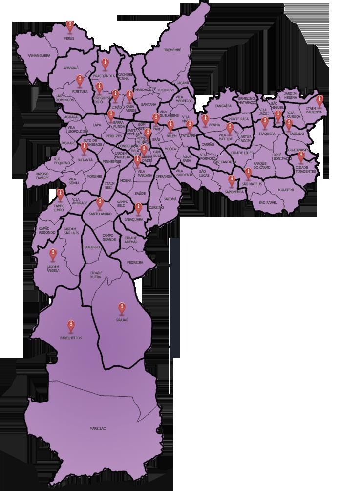Mapa do múnicipio de São Paulo