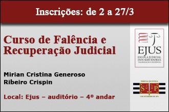 CURSO DE FALÊNCIA E RECUPERAÇÃO JUDICIAL