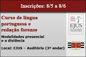 Curso de língua portuguesa e redação forense