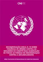 Capa da Cartilha Recomendação Geral N. 35 - CEDAW