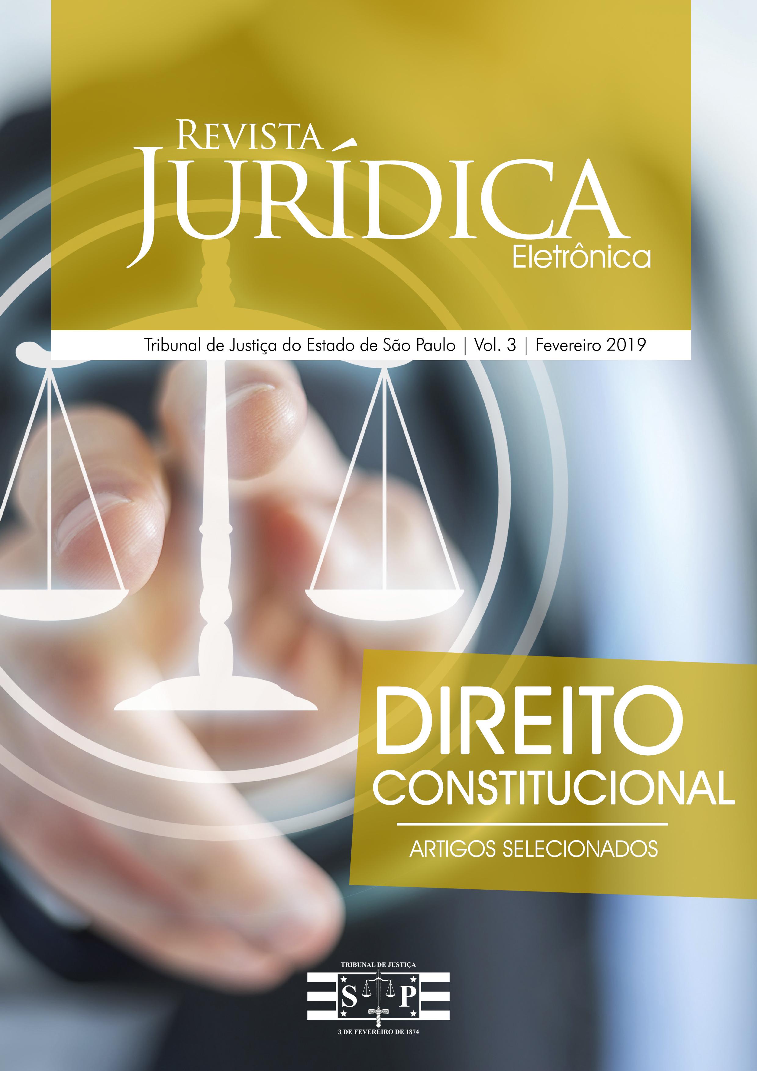 Capa da Revista Jurídica Eletrônica - Volume 01