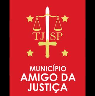 Selo do programa Município Amigo da Justiça